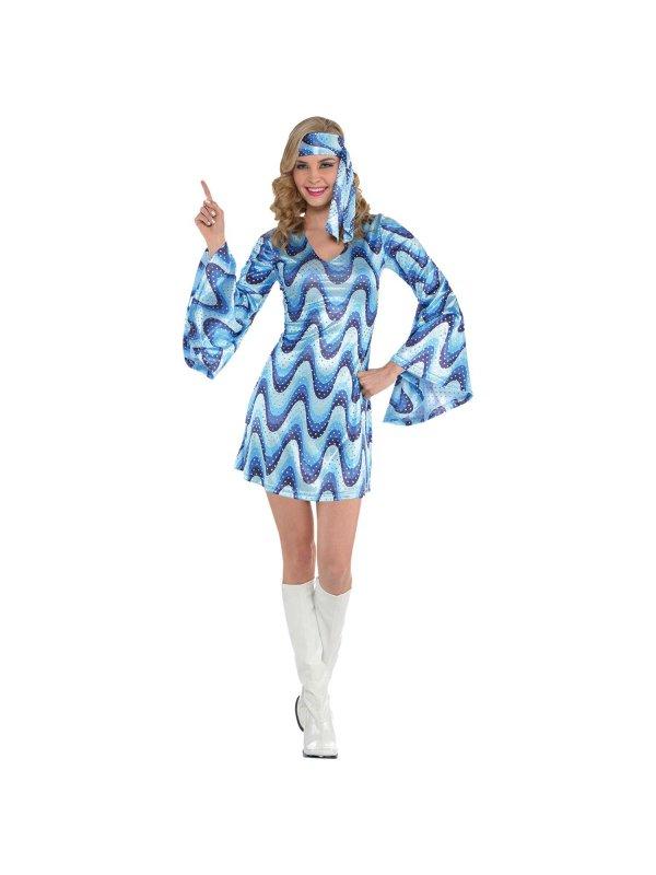 75187bfe7449 Blå disco klänning - Kalaskompaniet.se
