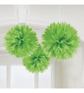 Limegröna pompoms 3-pack