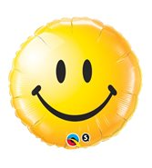 Gul smiley heliumballong
