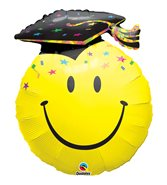 Smiley party grad heliumballong