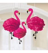 Flamingo Pompoms 3-pack