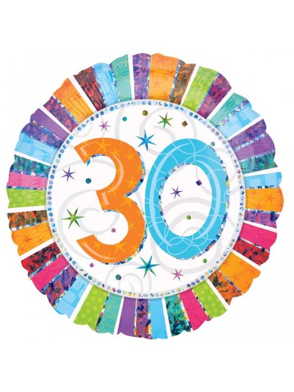 födelsedagstal 60 år 30 års heliumballong   Kalaskompaniet.se födelsedagstal 60 år