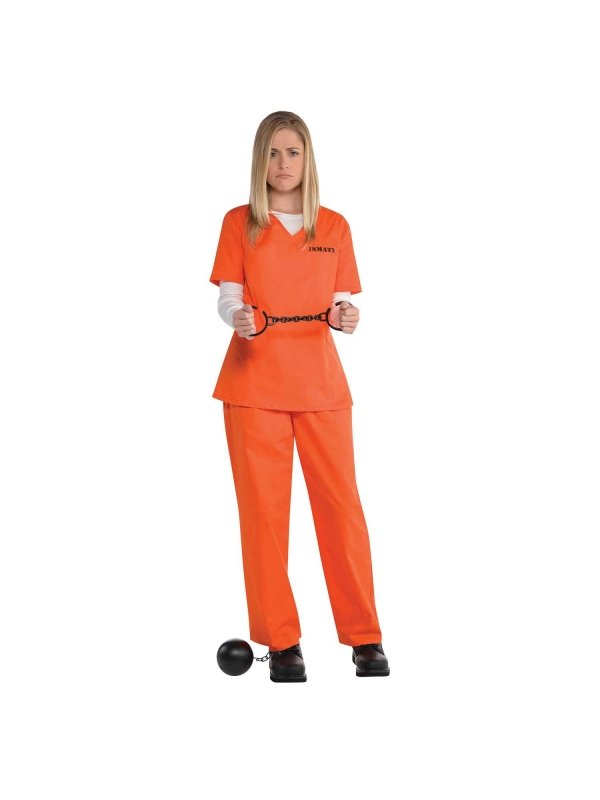 Amerikansk fånge kvinna maskeraddräkt - Kalaskompaniet.se 8d4c1b5d9c07e